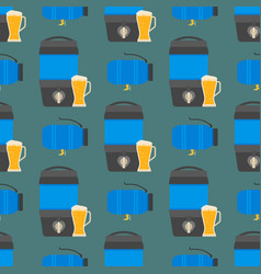 Beer drums container fuel cask storage rows steel vector