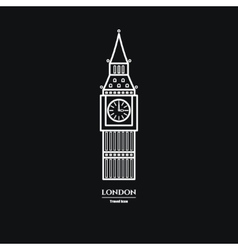 Big ben icon 1 vector