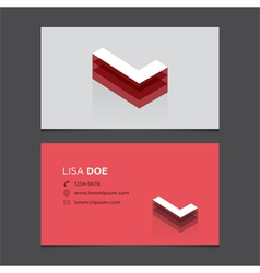 Business card letter l vector