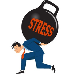 Businessman under stress vector