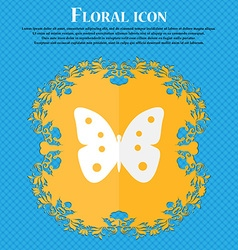 Butterfly sign icon insect symbol Floral flat vector image