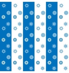Christmas white and blue snowflakes seamless vector