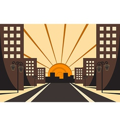 City Sunrise vector image