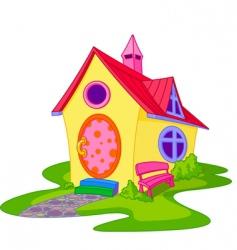 Cute house vector