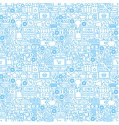 Cyber monday seamless pattern vector