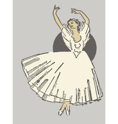 Dancing ballerina vector