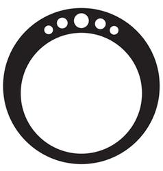 Diamond ring round vector