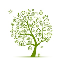 eco Green ecology tree vector image vector image