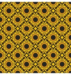 Golden seamless pattern on black background vector image vector image