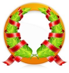 green wreaths in round vector image vector image