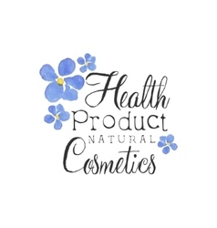 Health product beauty promo sign vector