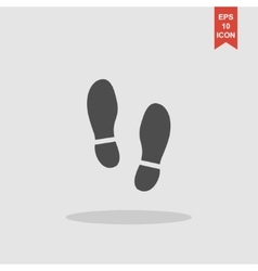 Imprint soles shoes icon shoes print vector