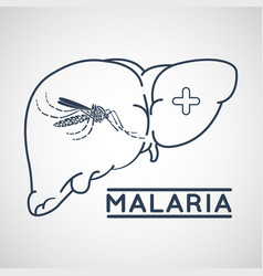 Malaria logo icon design vector