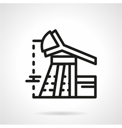 Oil rig flat line icon vector image