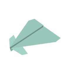 paper plane origami fly vector image