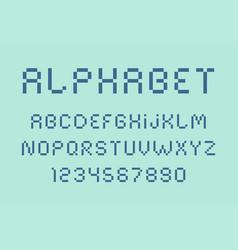 Pixel font and alphabet vector