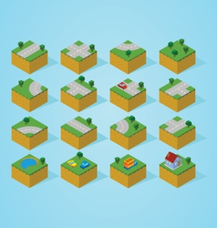 Pre assembly isometric road map vector image