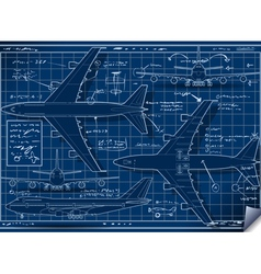 Project of a Plane in Five Positions vector image vector image
