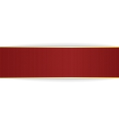 Red and golden festive Banner vector image