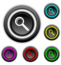 Search buttons set vector image