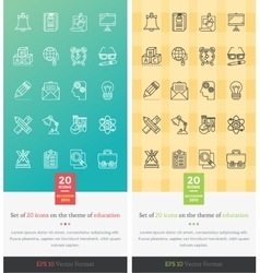 Set icons on the theme of education vector
