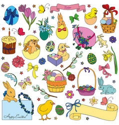 Set of easter symbols vector
