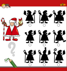 Shadow game with santa claus vector