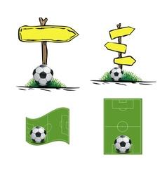 soccer design element vector image vector image