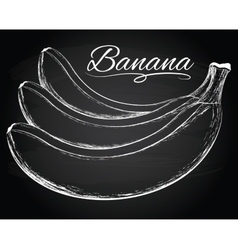 Tasty bananas vector