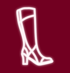 the image of a female boot vector image vector image
