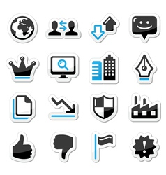 Web internet icons set - vector image vector image