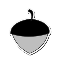 single acorn icon vector image