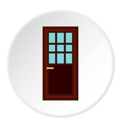 Living room door icon flat style vector
