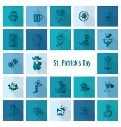 Saint patricks day icon set vector