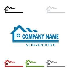 Real estate logo design home house logo vector image