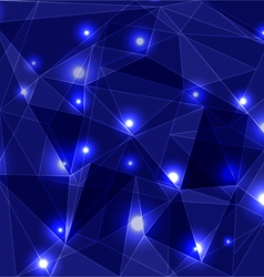 Geometric Glowing Background vector image