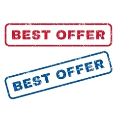 Best Offer Rubber Stamps vector image