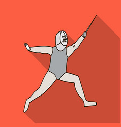 The athlete outfit with a swordfencing vector