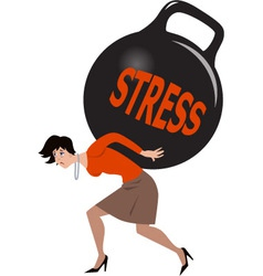 Woman under stress vector