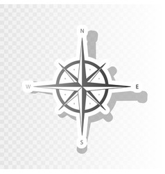 Wind rose sign  new year blackish icon on vector