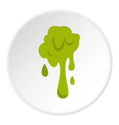 Green slime spot icon circle vector
