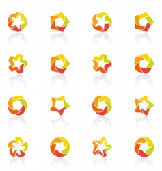 Stars icons vector