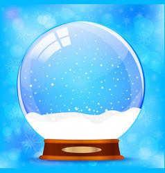snow globe vector image