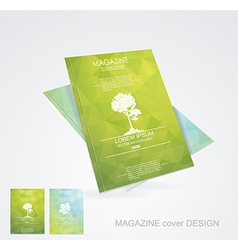 Magazine cover layout design vector image