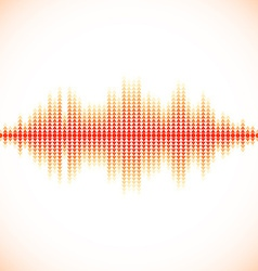 Red sound waveform with triangular arrows vector