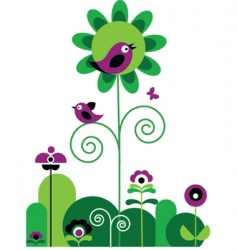 birds and nature vector image