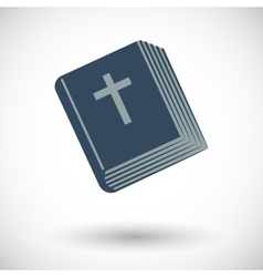 Bible single icon vector