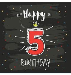 5th birthday vector