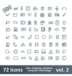 72 Icons vector image vector image