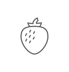 Strawberry line icon vector